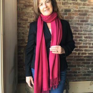 Accessories - Red viscose scarf